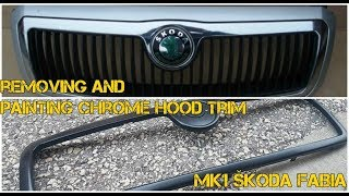 HOW TO #6/ Removing and painting chrome trim on mk1 Škoda Fabia