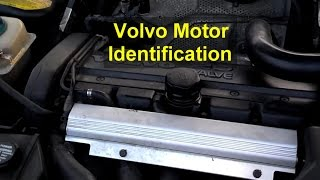 Engine serial number location on block, Volvo 850, S70, V70, XC70 - VOTD